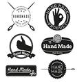 Hand Made logo design insignias vector image
