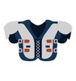 protection uniform body football american vector image