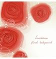 Romantic flowers background vector image