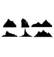 set of black and mountain vector image