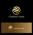 shape round abstract technology gold logo vector image