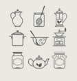 Tableware set icon vector image
