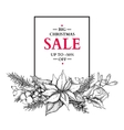 Christmas sale banner with garland hand vector image