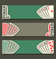 banner for text poker game vector image