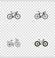 Realistic brand exercise riding cyclocross vector image