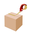 Closing A Cardboard Box with Dispenser vector image