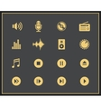 Music and sound icons vector image vector image
