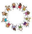 kids circle vector image