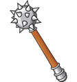 Medieval mace vector image