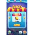 Sweet world mobile GUI shop screen video web games vector image