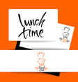 lunch time restaurant vector image