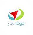 arrow navigation color logo vector image