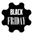 Black Friday emblem icon simple style vector image