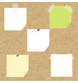 Cork Texture With Blank Note Tag vector image