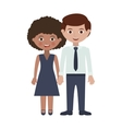 couple of adults with hands entwined vector image