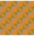 Geometric orange background with squares vector image
