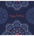 Greeting card with abstract vector image