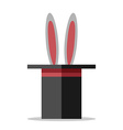 Hat with rabbit isolated vector image