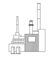 Industrial building factory vector image