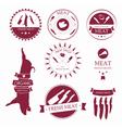 Set of meat shop labels and design elements vector image