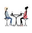Silhouette of two fashionable pregnant women vector image