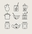 Tableware set icon vector image