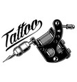 Tattoo machine monochrome vector image