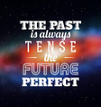 Typographic Concept Design vector image