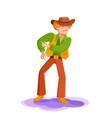 young man dancing at a disco vector image