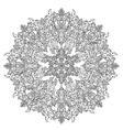Circle Christmas balls ornament vector image