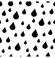 Black and white rain drops seamless pattern vector image