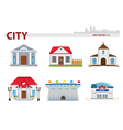 Public building Set 4 vector image