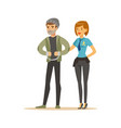 police women officer arresting thief character vector image