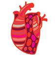 Heart pop art vector image vector image