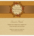 Autumn or summer invitation brown and beige vector image
