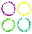 Set of Mardi Gras circle spots of pastel crayon vector image
