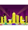 Cartoon city vector image