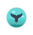 Whale tail icon Summer Vacation vector image