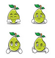 character of pear cartoon set vector image