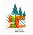 Geometric Christmas Sale Stickers vector image