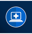 Medical care design over blue background vector image