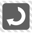 Rotate Rounded Square Button vector image
