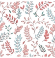 Seamless leaf pattern vector image