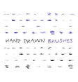 Set of hand drawndoodle sketched grunge brushes vector image