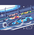 sports car competitions vector image