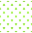 Star of David pattern cartoon style vector image