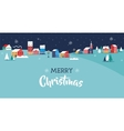 Merry Christmas greeting card poster and banner vector image vector image
