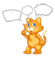 A cat with empty callouts vector image vector image