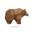 Abstract bear isolated on a white background vector image