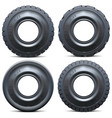 forklift tractor tire vector image